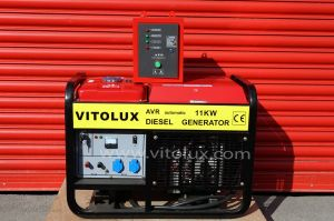 11 KW Single Phase Diesel Generator NEW VITOLUX with  Automatic Start-Stop panel and management
