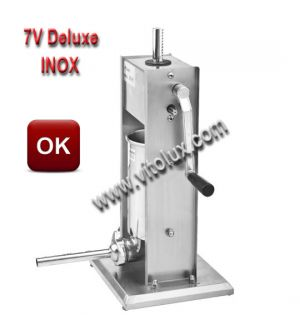Professional Vertical sausage filler 7V Deluxe- STAINLESS STEEL 304