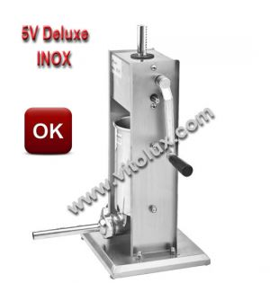 Professional Vertical sausage filler 5V Deluxe- STAINLESS STEEL 304
