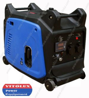 3,5 KW INVERTER  GASOLINE GENERATOR- soundproofed, with electric starter, Display and Remote Control