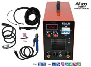 INVERTER WELDER WITH DIGITAL DISPLAY VITO-WS250 WITH ARGON